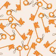 Key pattern Stock Illustration