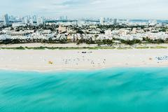 Aerial view of South beach and cityscape, Miami, Florida, USA Kuvituskuvat