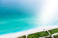 Aerial view of ocean and coastline, Miami, Florida, USA Kuvituskuvat