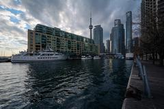 Buildings at the Harbourfront, in Toronto, Ontario. Stock Photos