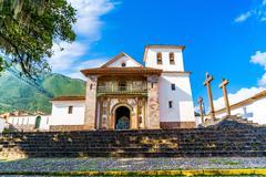 Sistine Chapel of America at Andahuaylillas Stock Photos