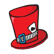 Mad hatters hat Stock Illustration