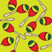 maracas pattern - stock illustration