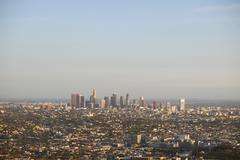 Aerial view of city, Los Angeles, USA - stock photo