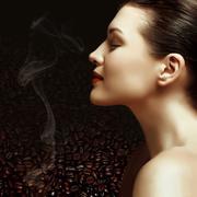 coffee beans, coffee flavor - stock photo