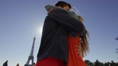 Couple Kissing and enjoy each others company while standing infront of the Stock Footage