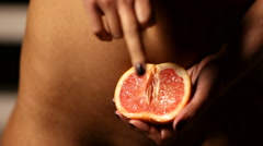 Virgin Orange Grapefruit Woman - stock footage