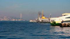 Turkey istanbul city sea Stock Footage