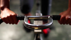 Spin pedaling (exercise bike) Stock Footage