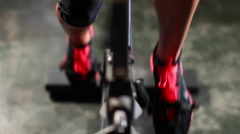 Spin Bike Pedaling Stock Footage
