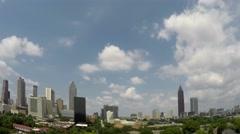 Atlanta Big Skyline Pan Time Lapse Arkistovideo
