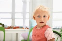 portrait of proud girly - stock photo