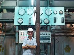 Supervisor In Sugar Cane Factory - stock photo