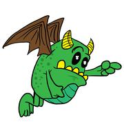 Winged monster Stock Illustration