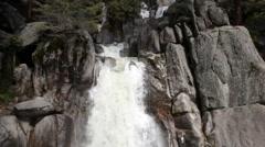 Waterfalls Chilnualna Trail Yosemite National Park California Stock Footage