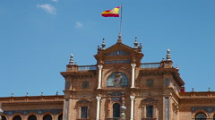 Plaza de Espana palace Stock Footage