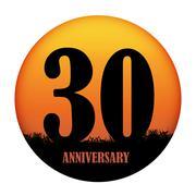 Template Logo Anniversary Vector Illustration - stock illustration