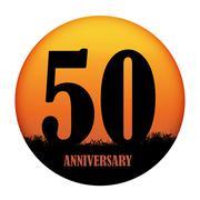 Template Logo Anniversary Vector Illustration Stock Illustration