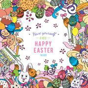 Awesome Happy Easter card in Stock Illustration