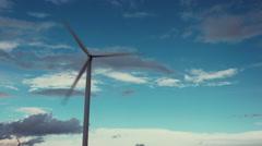 Wind turbines creating clean renewable energy. - stock footage