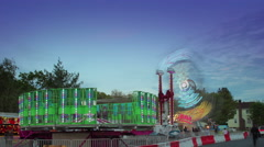 Carnival rides time lapse footage - stock footage