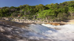 Pedernales Falls State Park and River in Texas Hill Country Stock Footage