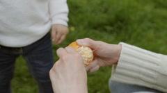 Peeling tangerine - stock footage