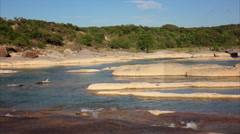 Pedernales River in Texas at Pedernales Falls State Park Stock Footage