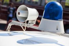 Vintage police siren Kuvituskuvat