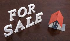 Concept of house for sale Stock Photos