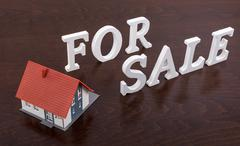 Concept of house for sale - stock photo