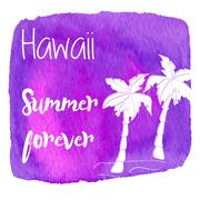 Watercolor Hawaiian, tropical graphic design Piirros