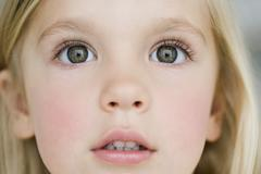 Young girl looking dazzled Stock Photos