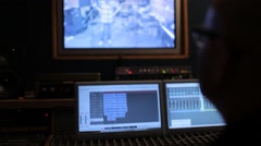 Recording studio, Sound Engineer Mixing Audio - stock footage