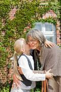 visit of grandmother - stock photo