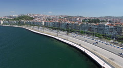 Aerial and 4K Clip of Izmir,Turkey Captured by Drone Cam Stock Footage