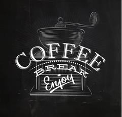 Poster coffee break - stock illustration
