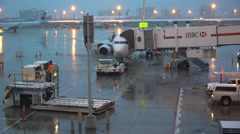 Air Canada Jet at Pearson Airport, Toronto Ready for Flight #2 Stock Footage