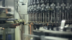 A machine for the production of plastic bottles Stock Footage