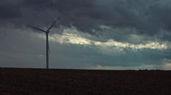 Wind turbines creating clean renewable energy. Stock Footage
