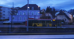 Bus arriving in station Stock Footage
