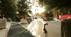 Christmas Angel ornament on tree Stock Footage