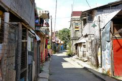 The streets of the Philippine cities. City landscape. Philippines. Stock Photos