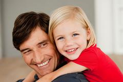 Father and daughter hugging Stock Photos