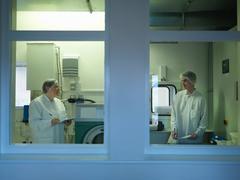 Laboratory Clean Room Technicians - stock photo