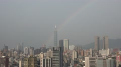 Taiwan skyline with the famed Taipei 101 skyscraper 4k Stock Footage