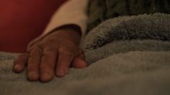 Wrinkled Hands - stock footage