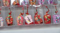 Miniature chinese lanterns in a shop, Lantern Festival Stock Footage