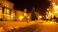 Christmas decoration in Szeged Stock Footage