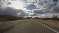 Mojave National Perserve Nipton Road Driving Shot Stock Footage